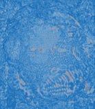 Abstraktes blaues Porträt ohne eine Zahl Stockfotografie