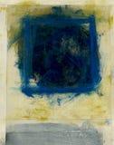 Abstraktes blaues Quadrat Stockfotos