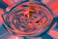 Abstraktes Blaues und Rot verdrehten gewirbeltes Design Stockfotografie
