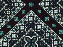 Abstraktes blaues und weißes geometrisches Muster stockfotografie