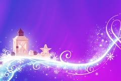 Abstraktes blaues Veilchenrosa Weihnachten - in hohem Grade ausführlich, reich verzierte Illustration lizenzfreie abbildung