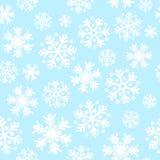 Abstraktes blaues Weihnachtsnahtloser Musterhintergrund Stockfoto