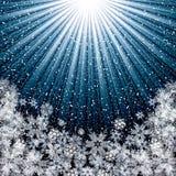 Abstraktes blaues Winter Weihnachten lizenzfreie abbildung
