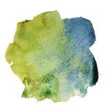 Abstraktes blaugrünes Aquarell lizenzfreie abbildung