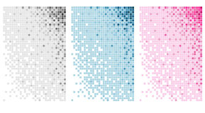 Abstraktes Blockhintergrundset Stockbilder