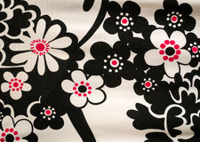 Abstraktes Blumen-Gewebe-Textilmuster Stockbilder