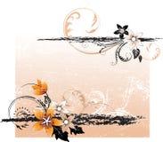 Abstraktes Blumenelement für Auslegung Stockfotografie