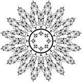 Abstraktes Blumenfeld, Elemente für Auslegung, Vektor Stockfotografie