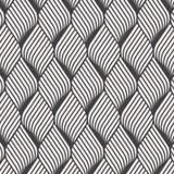 Abstraktes Blumenkräuselungsmuster Wiederholen von Vektorbeschaffenheit Gewellter grafischer Hintergrund Einfache geometrische We lizenzfreie abbildung