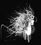 Abstraktes Blumenmädchen Lizenzfreie Stockfotografie