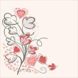 Abstraktes Blumenmuster Stockbild
