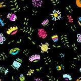Abstraktes Blumenmuster für Ihren Entwurf Stockfotos
