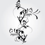 Abstraktes Blumenschattenbild Stockfotos