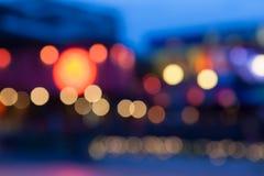 Abstraktes bokeh, defocused Licht auf Nacht Stockbild