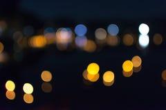 Abstraktes bokeh des Lichtes Stockbilder