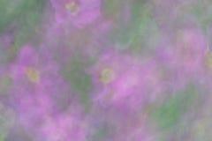 Abstraktes bokeh und undeutliche Blumen als Hintergrund oder Beschaffenheit Lizenzfreies Stockbild