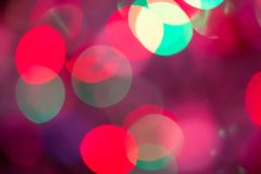 Abstraktes Bokeh unscharfes Farblicht kann Hintergrund benutzen Lizenzfreies Stockbild