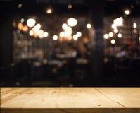 Abstraktes bokeh verwischen nahen Restauranthintergrund stockfotografie