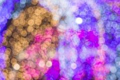 Abstraktes bokeh vom Licht verziert im Weihnachten und in F.E. des neuen Jahres Stockfotos