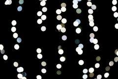 Abstraktes bokeh von wei?en Stadtlichtern auf schwarzem Hintergrund defocused und verwischt vielen ringsum Licht vektor abbildung