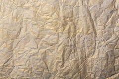 Abstraktes Braun bereitet zerknittertes Papier für Hintergrund auf Papier masert Hintergrund für Weihnachten oder neues Jahr Lizenzfreies Stockfoto