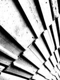 Abstraktes brickwall in Schwarzweiss stockfotos