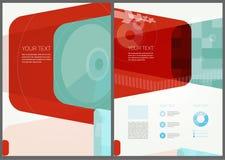 Abstraktes Broschüren-Fliegerdesign Lizenzfreies Stockbild