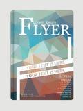 Abstraktes Broschüren-Fliegerdesign, Schablone A4 in der Größe, Vektor illus Lizenzfreie Stockfotografie
