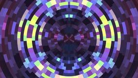 Abstraktes buntes bewegliches Kreispixel blockiert bewegungsdynamik der neuen Qualität der Hintergrundanimation belebte die Unive lizenzfreie abbildung