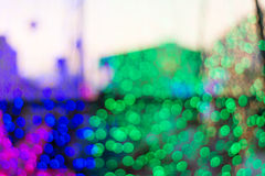 Abstraktes buntes bokeh Hintergrund-Formlicht Stockfotografie