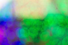 Abstraktes buntes bokeh Hintergrund-Formlicht Lizenzfreie Stockfotos