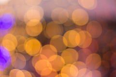Abstraktes buntes bokeh Hintergrund-Formlicht Stockfoto