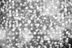 Abstraktes buntes Bokeh kreist Weihnachtshintergrund ein Stockfotos