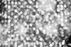 Abstraktes buntes Bokeh kreist Weihnachtshintergrund ein Stockfotografie