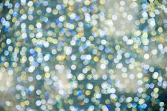 Abstraktes buntes Bokeh kreist Weihnachtshintergrund ein Lizenzfreie Stockfotografie