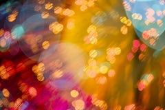 Abstraktes buntes bokeh Licht Stockbild