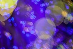 Abstraktes buntes bokeh Licht Stockbilder