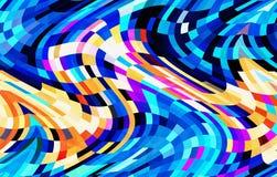 Abstraktes buntes Design des wellenartig bewegenden Musters vektor abbildung