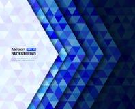 Abstraktes buntes Dreieck-Hintergrund-Design Stockbilder