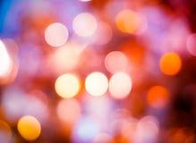 Abstraktes buntes fokussiertes Hintergrundschwarzes der Unschärfe De Lizenzfreies Stockfoto