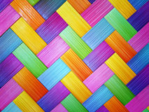 Abstraktes buntes hölzernes weavin Lizenzfreie Stockbilder