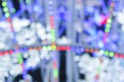Abstraktes buntes Kreis-bokeh Licht Lizenzfreie Stockfotografie