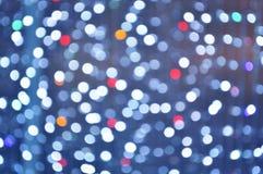 Abstraktes buntes Kreis-bokeh Licht Stockbild