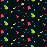 Abstraktes buntes Muster Modische geometrische Elemente Vektorst. Lizenzfreies Stockbild