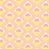 Abstraktes buntes Muster Modische geometrische Elemente Vektorst. Stockbild