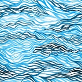Abstraktes buntes nahtloses Muster des Aquarells Stockfotografie