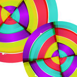 Abstraktes buntes Regenbogenkurven-Hintergrunddesign. Stockbild
