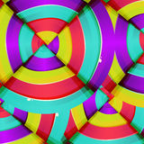 Abstraktes buntes Regenbogenkurven-Hintergrunddesign. Stockfotografie