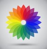Abstraktes buntes Spektrum-Blumen-Blumenblatt Lizenzfreies Stockfoto