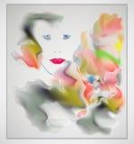 Abstraktes buntes Titelvektordesign stockbild
